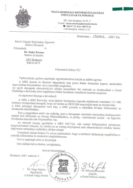 Rektor utasítása csalásra