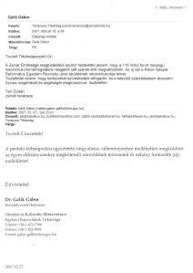 Galik - Kistarr levelezése
