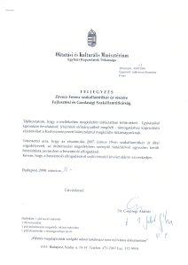 Galik aláíratja Csepregivel